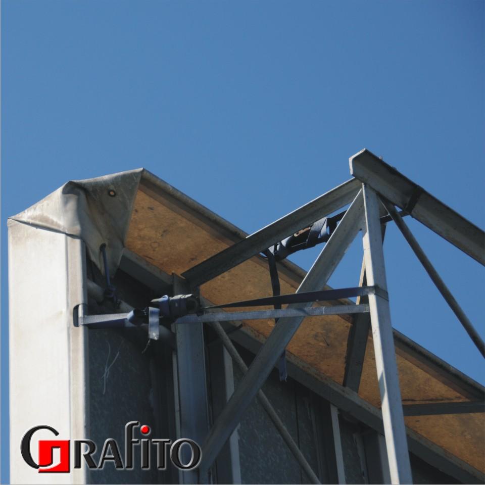 Konstrukcja stalowa 5x3m. Dach bydynku.
