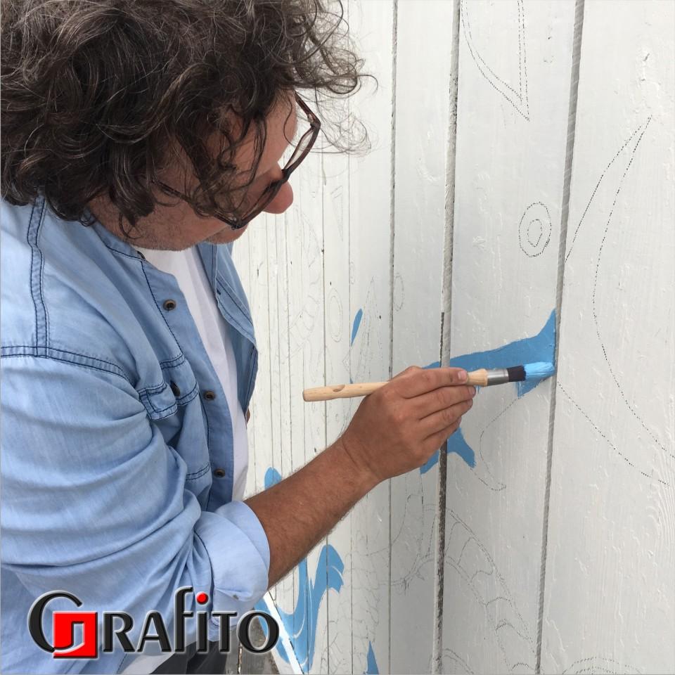 Grafika malowana ręcznie.